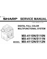 SHARP MX 4110 4111 4112 5110 5111 5112 N Service Manual