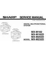 SHARP MX M182 182D 202D 232D Service Manual
