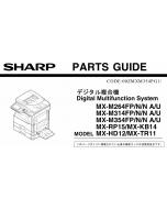 SHARP MX M264 314 354 U-N-FP Parts Manual