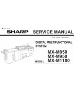 SHARP MX M850 M950 M1100 Service Manual