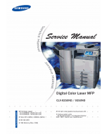 Samsung Digital-Color-Laser-MFP CLX-9250ND 9350ND Parts and Service Manual