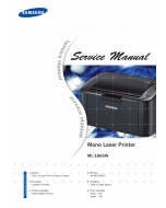 Samsung Laser-Printer ML-1865W Parts and Service Manual