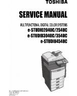 TOSHIBA e-STUDIO 2040c 2540c 3040c 3540c 4540c Service Manual