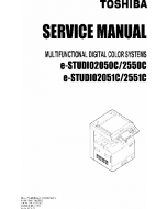 TOSHIBA e-STUDIO 2050c 2051c 2550c 2551c Service Manual