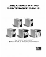 Zebra Label 90 96 140 170 220 XiIIIplus Maintenance Service Manual