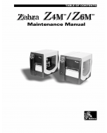 Zebra Label Z4M Z6M Maintenance Service Manual