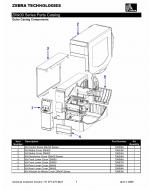 Zebra Label ZM400 ZM600 Parts List