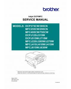 Brother Inkjet-MFC J220 J265 J270 J410 J415 J615 J630 W DCPJ125 J315 J515 J715 W Service Manual