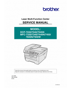 Brother Laser-MFC 7320 7340 7440 7450 7840 N-W DCP7030 7040 7050N Service Manual