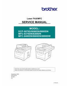 Brother Laser-MFC 8370 8380 8480 8880 8890 DN DCP8070 8080 8085 DN Service Manual