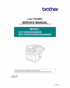 Brother Laser-MFC 8480 8880 8890 DN-DW DCP8080 8085 DN Service Manual