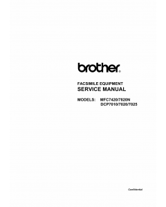 Brother MFC 7420 7820N DCP7010 7020 7025 Service Manual