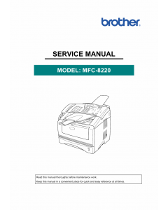 Brother MFC 8220 Service Manual and Parts
