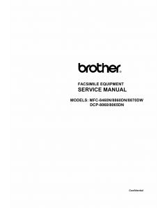 Brother MFC 8460N 8860DN 8870DW DCP8060 8065DN Service Manual