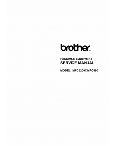 Brother MFC 890 5200C Service Manual