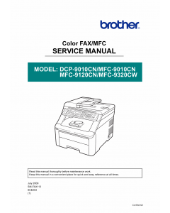 Brother MFC 9010 9120 9320 CN-CW DCP9010CN Service Manual