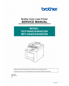 Brother MFC 9440CN 9450CDN DCP9040CN 9042CND Service Manual