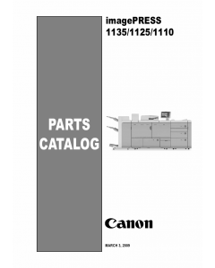 CANON imagePRESS 1110 1125 1135 Parts Manual PDF download