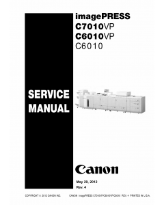 CANON imagePRESS C6010 C6010VP C7010VP Service Manual PDF download