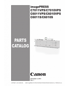 CANON imagePRESS C7011VPS C7010VPS C6011VPS C6010VPS C6011S C6010S Parts Manual PDF download