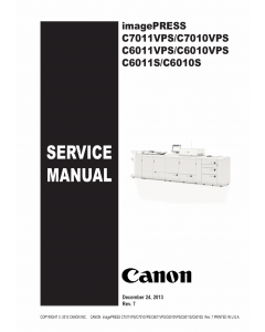 CANON imagePRESS C7011VPS C7010VPS C6011VPS C6010VPS C6011S C6010S Service Manual PDF download