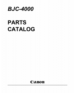 Canon BubbleJet BJC-4000 Parts Catalog Manual