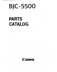 Canon BubbleJet BJC-5500 Parts Catalog Manual