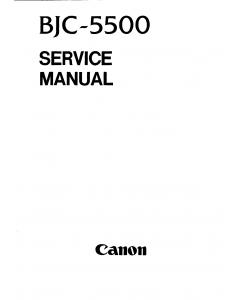 Canon BubbleJet BJC-5500 Service Manual