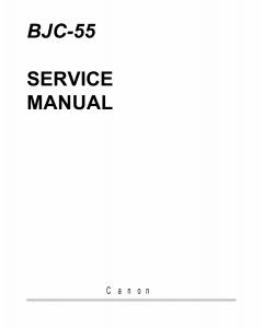 Canon BubbleJet BJC-55 Service Manual