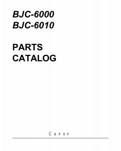Canon BubbleJet BJC-6000 6010 Parts Catalog Manual