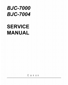 Canon BubbleJet BJC-7000 7004 Service Manual