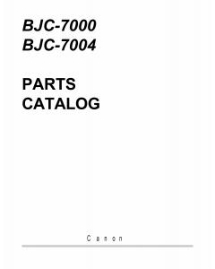 Canon BubbleJet BJC-7000 Parts Catalog Manual