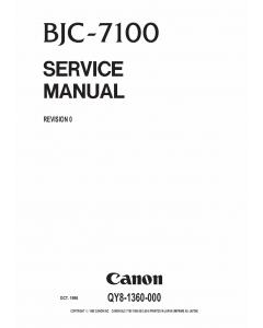 Canon BubbleJet BJC-7100 Service Manual