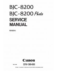 Canon BubbleJet BJC-8200 Service Manual