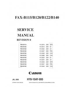 Canon FAX B115 B120 B122 B140 Service Manual