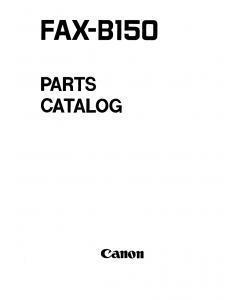 Canon FAX B150 Parts Catalog Manual