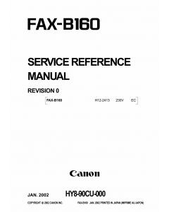 Canon FAX B160 B180 Service Manual