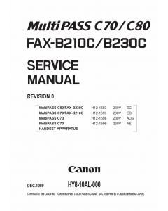 Canon FAX B210C B230C Service Manual