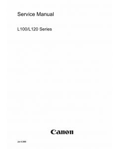 Canon FAX L100 L120 Parts and Service Manual