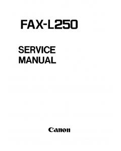 Canon FAX L250 Parts and Service Manual