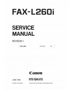 Canon FAX L260i Parts and Service Manual