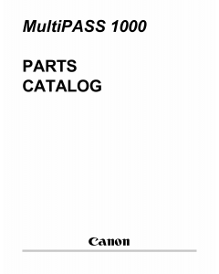 Canon MultiPASS MP-1000 Parts Catalog Manual