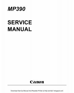 Canon MultiPASS MP-390 Service Manual