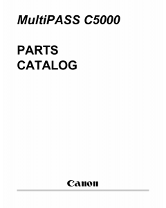 Canon MultiPASS MP-C5000 Parts Catalog Manual