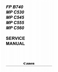 Canon MultiPASS MP-C530 C545 C555 C560 FB-P740 Service Manual