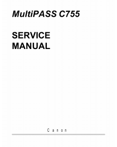 Canon MultiPASS MP-C755 Service Manual
