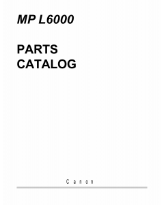 Canon MultiPASS MP-L6000 Parts Catalog Manual