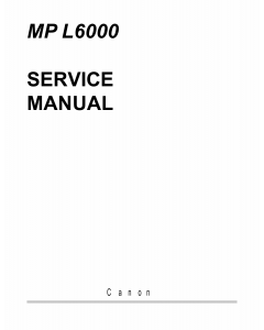 Canon MultiPASS MP-L6000 Service Manual
