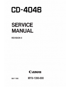 Canon Options CD-4046 Document-Scanner Parts and Service Manual