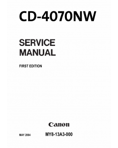 Canon Options CD-4070NW Document-Scanner Parts and Service Manual